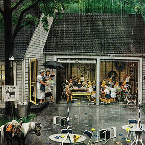 Stevan Dohanos, 'Rained Out Birthday Party', 1854