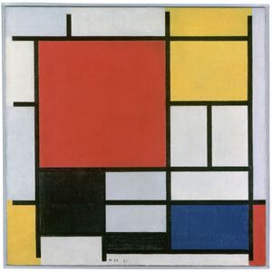 Piet Mondrian, 'Composition with Large Red Plane, Yellow, Black, Grey and Blue', 1921
