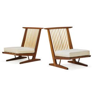 Mira Nakashima, 'Two Conoid Lounge Chairs, New Hope, PA', 1992/93