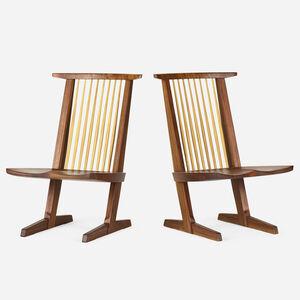 Mira Nakashima, 'Conoid Lounge Chairs, pair', 1991
