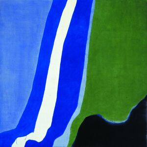 Charles Pollock (1902-1988), 'Untitled (Post-Rome) Blue, Green, Black', 1964