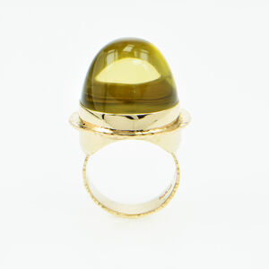 Michael Baksa, 'Lemon Citrine & Gold ring', 2019