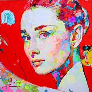 Ren Zhenyu, ' Audrey Hepburn (Red)', 2017