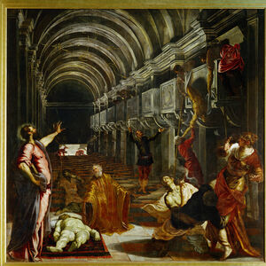 Jacopo Tintoretto, 'The finding of the body of Saint Mark', 1562-1566