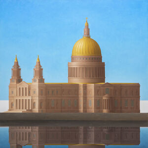 Renny Tait, 'St Paul's Blue Sky Gold Dome', 2019