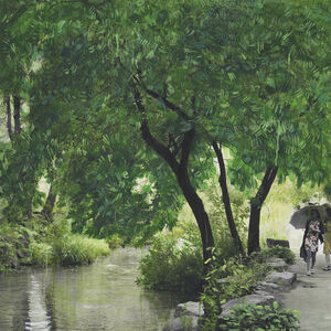 Honggoo Kang, 'Study of Green-Seoul-Vacant Lot-Cheonggye Creek (Stream)', 2019