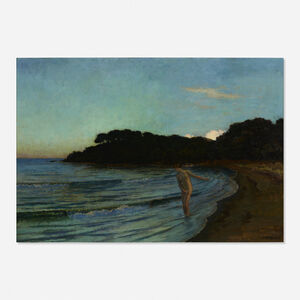 René Ménard, 'Woman Bather Stepping into a Lake'