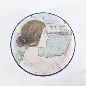 Galileo Chini, 'Arte della Ceramica, Plate', 1900