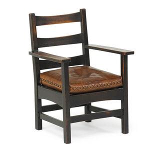 Harvey Ellis, 'Armchair with leather cushion', ca. 1904