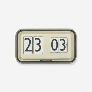 Gino Valle, 'monumental wall clock, CIFRA 12', c. 1955