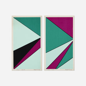 Olle Baertling, 'Untitled (two works from The Angles of Baertling - Open Form, Infinite Space portfolio)', 1966-68