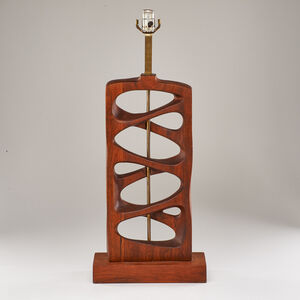 Attributed to Modeline Lamp Company, 'Sculpted  table lamp', 1960s