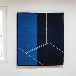 Gudrun Pagter, 'Form on Black and Blue', 2020