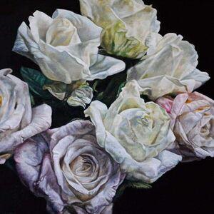 Robert Lemay, 'White Roses - floral still life', 2020