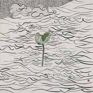 Chu Chu  儲楚, 'Lotus Leaf-Mystical Lotus Sutra 莲叶-妙法莲华经', 2015