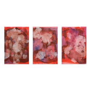 Rebecca Meanley, 'Red Distemper Triptych', 2019