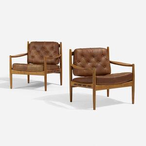 Ingemar Thillmark, 'Lacko armchairs, pair', 1950
