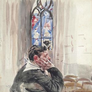 Giovanni Boldini, 'Uomo in Chiesa (Man Seated in a Church)', ca. 1905