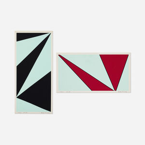 Olle Baertling, 'Untitled (two works from The Angles of Baertling - Open Form, Infinite Space portfolio)', 1956, 68/1957, 68