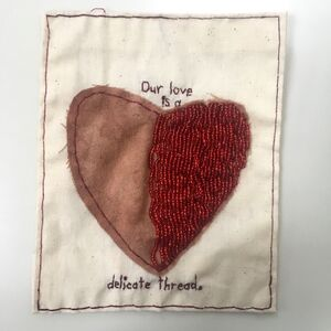 Iviva Olenick, 'Our Love - love narrative embroidery', 2019