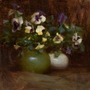 Susan Lyon, 'Yellow and Purple Pansies', ca. 2020