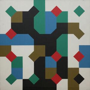 Bruno Munari, 'Colori nella curva di Peano', 1995