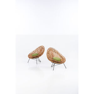 Attributed to Franco Albini, 'Pair of armchairs', circa 1950