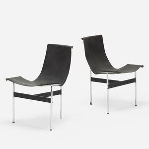 William Katavolos, 'T-chairs model 3-LC, pair', 1953