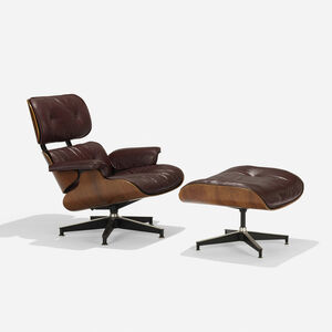 Charles and Ray Eames, '670 armchair and 671 ottoman', 1956