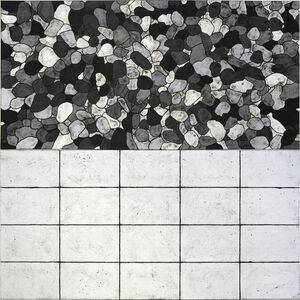 Matt Mullican, 'all I see are light patterns in 5 black and white', 2018