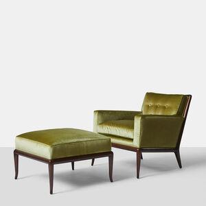 T.H. Robsjohn-Gibbings, 'TH Robsjohn Gibbings Lounge Chair and Ottoman', 1950-1959