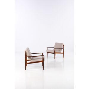 Grete Jalk, 'Pair of armchairs', around 1960
