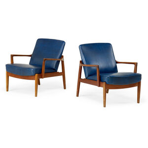 Tove Kindt-Larsen, 'Rare pair of lounge chairs (no. FD125), Denmark', 1950s