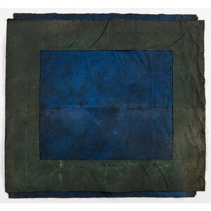 André Valensi, 'Toile double bleu-vert', 1992