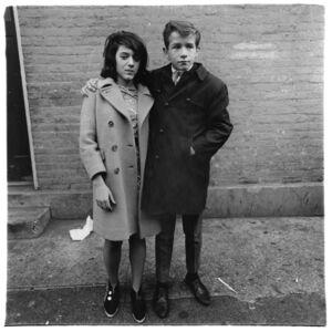Diane Arbus, 'Teenage couple on Hudson Street, N.Y.C.', 1963 / printed by Neil Selkirk