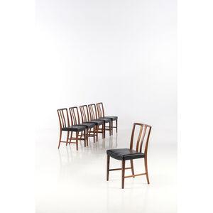 Peder Pedersen, 'Set of six chairs', near 1950