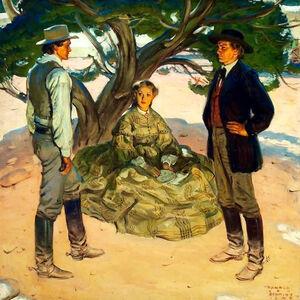 Harold Von Schmidt, 'Under the Pine Tree', 1949