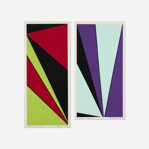 Olle Baertling, 'Untitled (two works from The Angles of Baertling - Open Form, Infinite Space portfolio)', 1955, 68/1964, 68