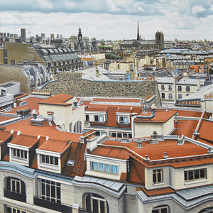 Don Jacot, 'Paris, Looking South from Pompidou Center', 2017