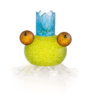 Borowski Glass, 'Frosch/Frog Candleholder: 24-01-56 in Lime Green', 2018