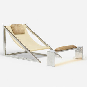 Archizoom Associati, 'Mies chair and ottoman', 1969