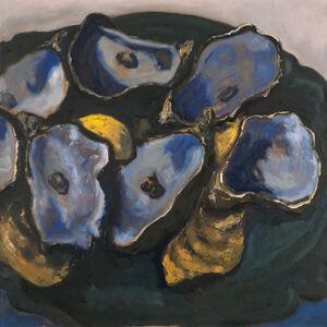 Guy de Malherbe, 'Reliefs - Restes d'un dîner d'huîtres  XII', 2019