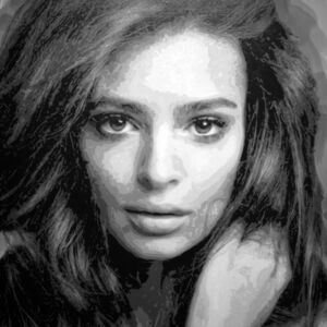 Rob and Nick Carter, 'Emily Ratajkowski Robot Painting, Painting time 88:13:00 Stroke count 27448 19 March - 6 April 2020', 2020