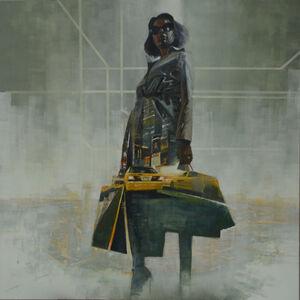 Steven Walker, 'man hatten woman 2', 2017