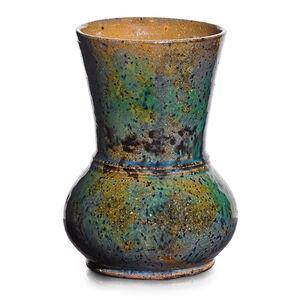 George Ohr, 'Vase, speckled glaze', 1895-96