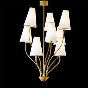 Style of Jean Royère, 'Nine-arm chandelier, France', 1950s