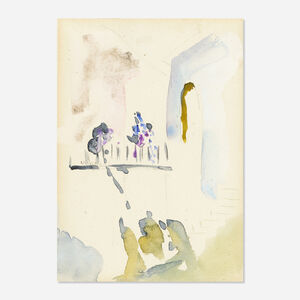 Arthur Beecher Carles, 'Balcony with Flowers (#158 from sketchbook)'