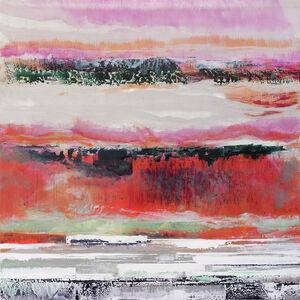 Bruno Kurz, 'heavenly light in crimson', 2018