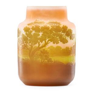 Galle, 'Vase with landscape'