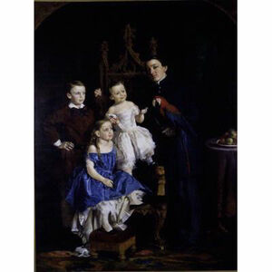 Lilly Martin Spencer, 'Four Children of Marcus L. Ward', 1858-1860